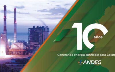 Asociación de generadores térmicos (Andeg) celebra 10 años